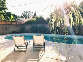 L.A. Private Cottage Oasis | Central, Poolside, Business Ready, + Parking