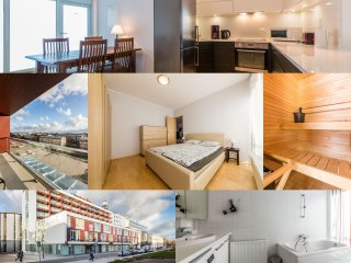 Parnu apartment with balcony & sauna
