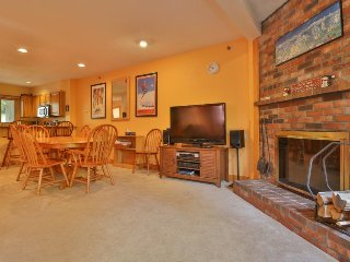 Welcoming slopeside condo features shared pool/hot tub & ski-in/ski-out access!