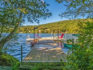 Secluded lakefront home w/ private pier and beautiful views - close to skiing