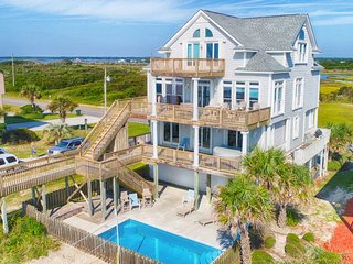 New River Inlet Rd 1056 Oceanfront! | Private Pool, Hot Tub, Jacuzzi, Internet,