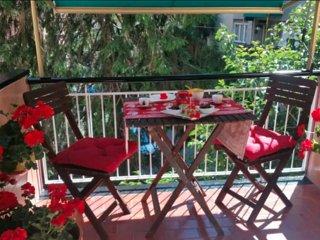 Bilocale con balcone e a/c, adatto a famiglie