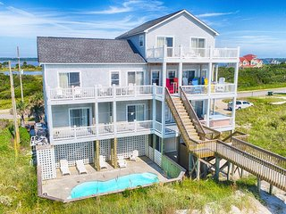 New River Inlet Rd 526 Oceanfront! | Private Heated Pool, Hot Tub, Elevator, Gam
