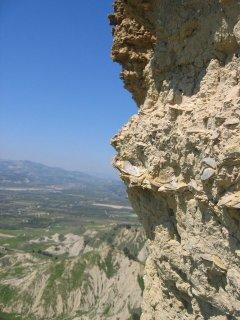 Stratificazione del Pleistocene medio - Riserva dei Calanchi di Montalbano