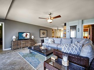 Living room featuring Large Smart TV