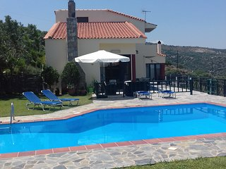 Villa 'Iliothea' seaside Milatos Crete, swimming pool ,bbq, up 15 people