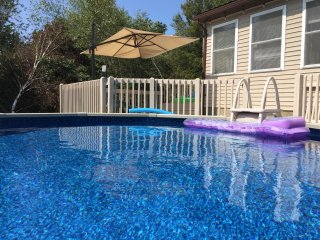 Spa House with lots of Privacy in the Poconos - Pool, Playroom, Hot Tub, A/C