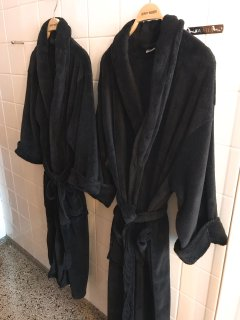 2 bath robes for guests