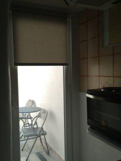 kitchen view...veranda door...