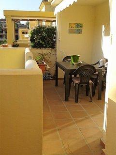 terrace area outside lounge