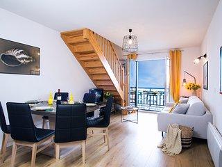 Magnifique appartement idealement situe 1ere ligne mer–piscine - Jacuzzi