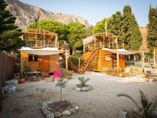 Kalymnos 'Black Pearl' Beach-luxury Holiday Cabin.