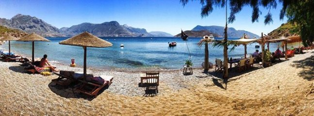The beach at Pirates Cove, Exotic Ambelli