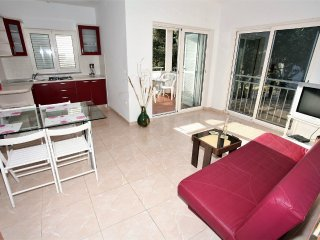 Modern apartment with great terrace and sea view,400m distant from the sea !