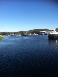 View of Caledonian Canal Muirtown Basin.