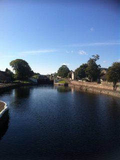 View of Muirtown locks on the Caledonian Canal.