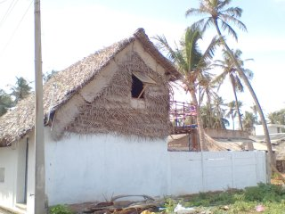 cottage hut house beach view in kottapuppam