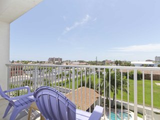 This 4th story southern view promises great sunrises and sunsets.