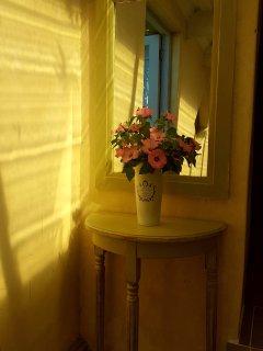 Always fresh flowers in vases
