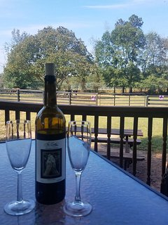 Sit on the deck,drink some wine and look out at the horses in the paddock