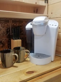 Keurig and coffee provided for our guests
