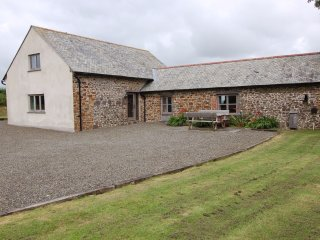 WIDEHAY BARN, smart barn conversion in rural Mid Devon with far reaching views.