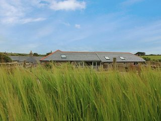 THE OLD BARN, two-storey, semi-detached barn conversion, countryside near Sennen