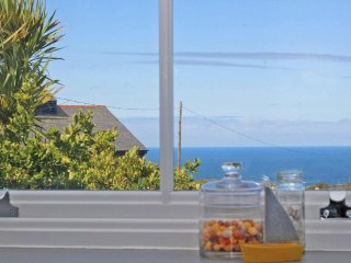 BAL VIEW, restored terraced cottage, luxuriously appointed, exposed stone walls,