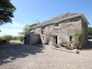 TREVENNING BARN homely barn conversion, large garden, rural hamlet setting near