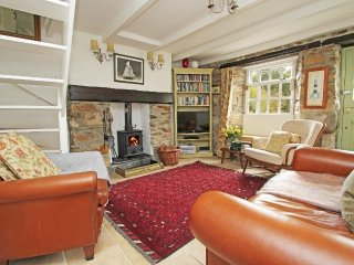 MAY COTTAGE stone terraced cottage, wood burning stove, stunning garden, within