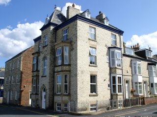 WHITE HORSES, open plan accommodation, ornamental fire, spacious rooms, in Whitb
