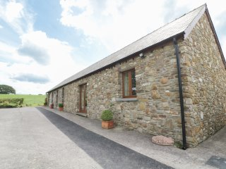YSGUBOR HIR, stone cottage, surrounded by open fields, lawned garden, off road