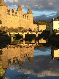 The stunning chateau at nearby Josselin