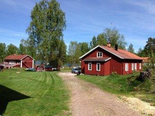 Gammal skogsvaktmästarehus belägen i sagolikt historiskt järnbruk