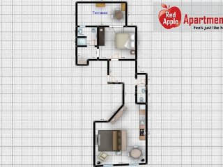 Beautiful Standing Apartment with Terrace in the Center - 7270