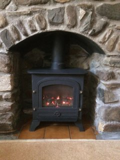 The living flame gas fire