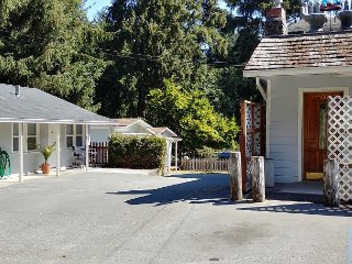 Strawberry Cabin entrance located to the left of the tavern entr