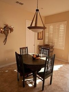 OUR BREAKFAST NOOK IS GREAT FOR EITHER BREAKFAST OR HOTT CUP OF JAVA.