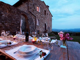 Medieval Villa Badia near the Chianti Classico wine production :)