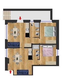 Paintina appartamento Maja
