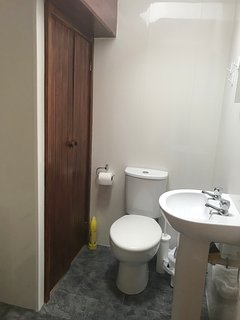 Upstairs toilet and sink