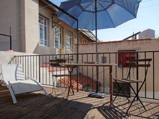 Appartement de charme avec terrasse vue mer