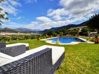 VILLA PORT ANDRATX, private garden with pool and mountain views.