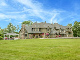 Hilltop Mansion in the Poconos! 14 BEDROOMS, POOL, THEATER, GAME RM, 1 OF A KIND