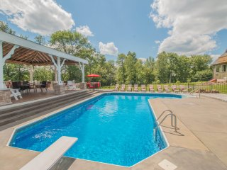 Hilltop Mansion Vacation Rental in the Poconos! 14 BEDROOMS, POOL, LOTS TO SEE!