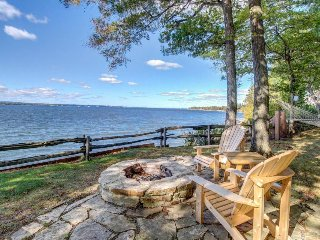 Enjoy stunning views & typical home comforts at this beautiful lakefront retreat