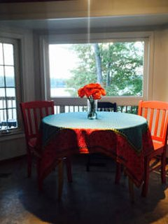 Eat-in Kitchen with lake views