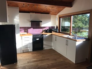 Newly renovated,well equipped kitchen area.