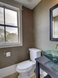 Roomy Half Bathroom