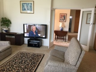 Television with DVD and supplied DVDs to watch